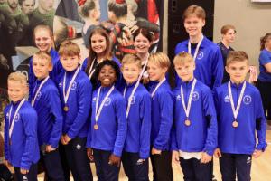 Medaljer til ØGF TeamGym Drenge