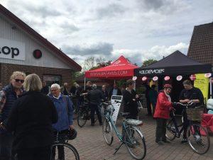 Stort rykind til el-cykeldag hos Fri BikeShop på Niels Olsensvej i Ølstykke