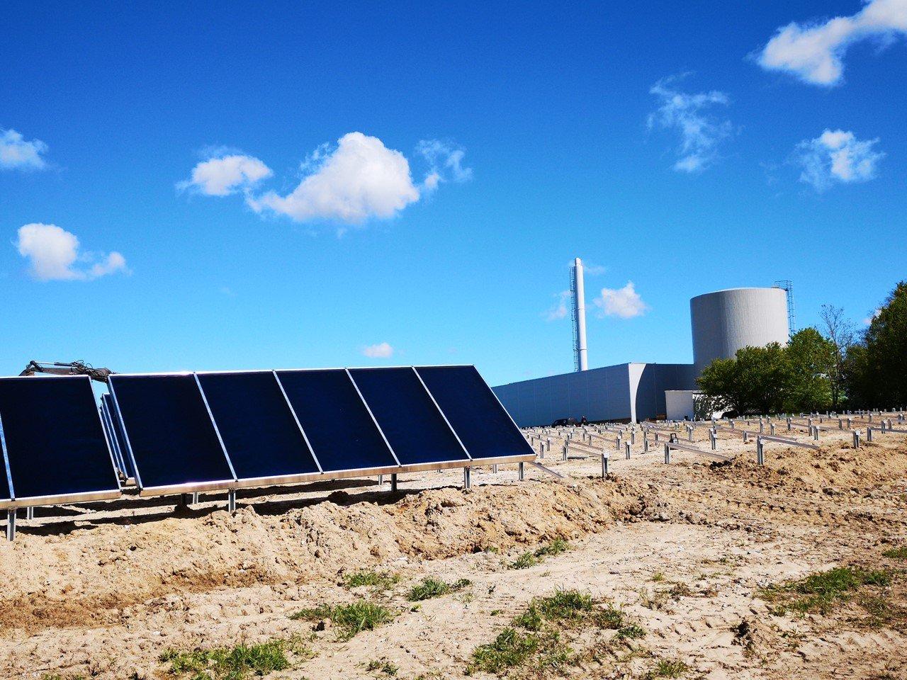 Egedal Fjernvarmes solvarmeanlæg ved Maglevad