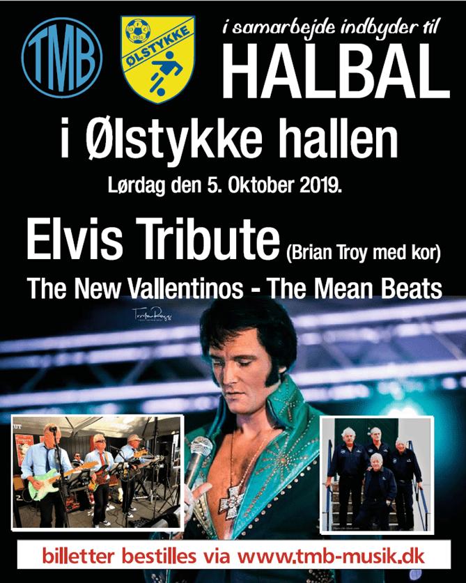 Halbal med Elvis Tribute i Ølstykke Hallen- Vores Egedal