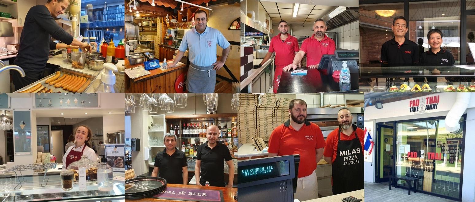 De lokale spisesteder i Egedal Centret er genåbnet