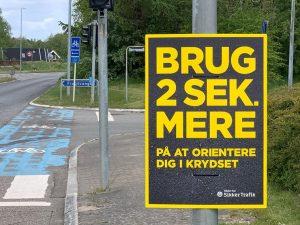 Egedal Kommune & Rådet for Sikker Trafik sætter spot på cyklister i vejkryds