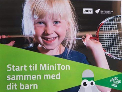 Ganløse Badminton Club starter MiniTon for børn og deres forældre