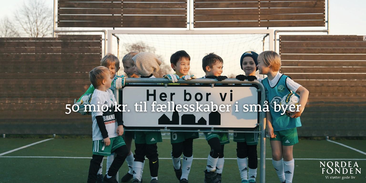Nordea-fonden genåbner Her bor vi-pulje: 50 mio. kr. til at styrke fællesskabet i småbyerne