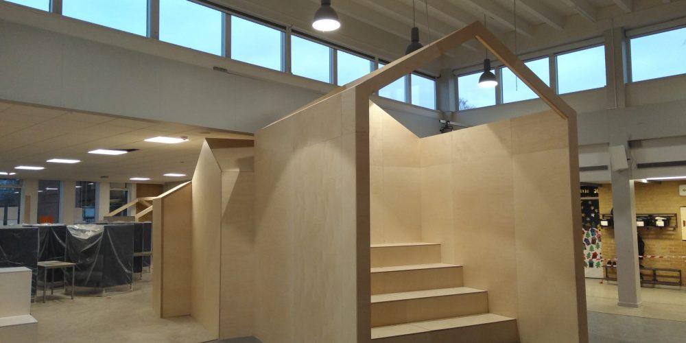 Nyt fællesareal til både leg og læring på Boesagerskolen
